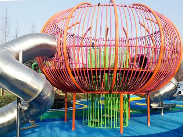 Urban park cage play structure for children amusement in ChongQing